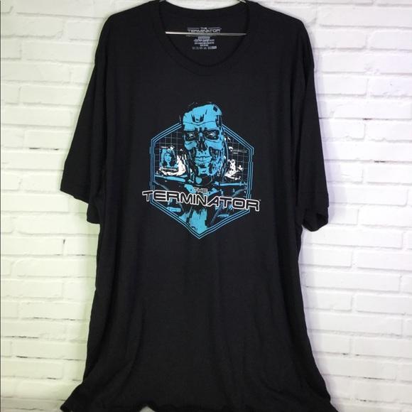 The Terminator Men/'s Navy T-shirt Medium
